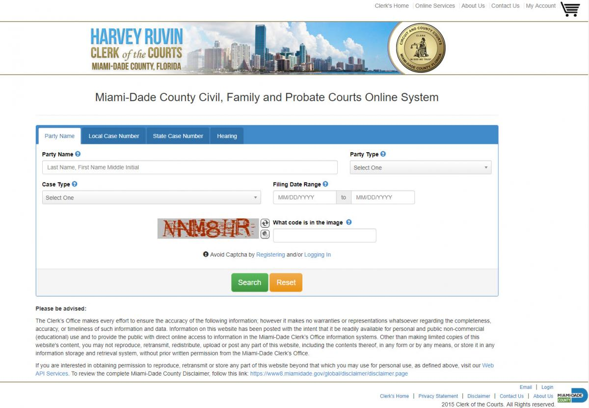 Search Miami-Dade divorces and other lawsuits   inspectadate